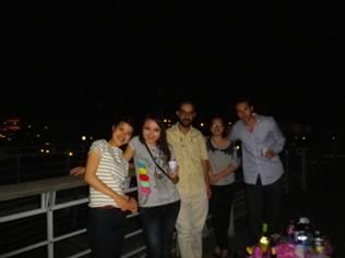 MPAの友達と夜のピクニック